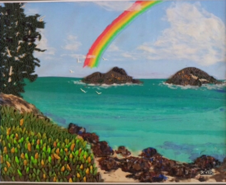 Ocean, sunsets, palm trees, and rainbows!
